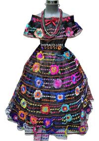 Vestido Chiapaneca 8 Olanes De 1416 Años Chiapas Bordado