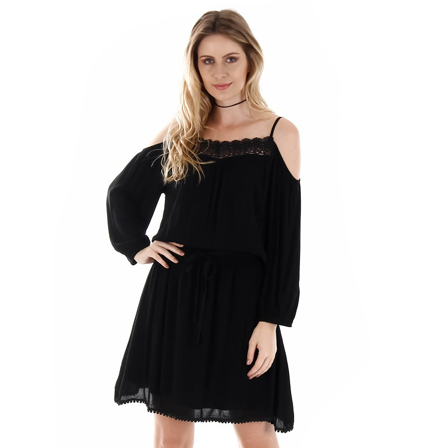 5fe0bf409 vestido ciganinha feminino facinelli - preto. Carregando zoom.