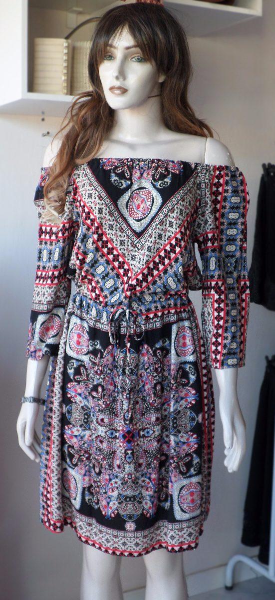 60ba8a385e vestido ciganinha lisa ji manga 3 4 - estampado. Carregando zoom.