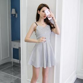 d987455521a64 Vestido Cinta Espaguete Crossover Namorada Decote Mini Vesti