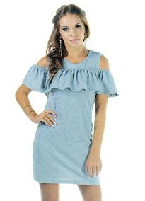 79f061568 Vestidos De Ombro Vazado Babado Thelure - Vestidos Femeninos Casual com o  Melhores Preços no Mercado Livre Brasil