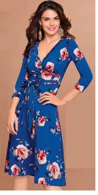 Vertiche Catalogo 2018 Vestidos Vestidos Casual Medio Azul