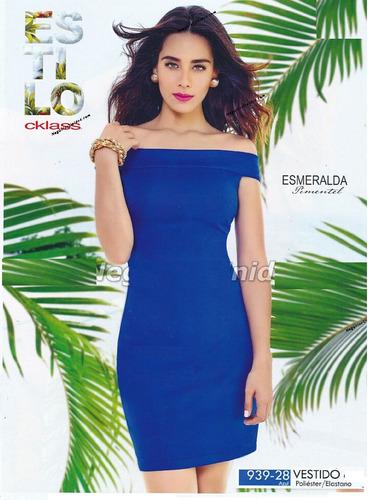 vestido cklass azul rey 939-28 primavera verano 2015 nuevo
