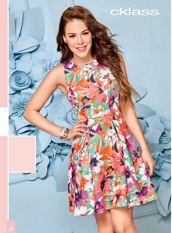 32af9dd506ca3 vestido cklass floral 969-03 multicolor primavera verano 16. Cargando zoom.