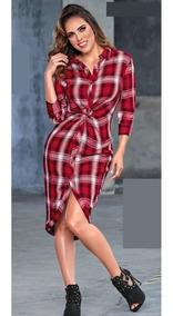 Vestidos Ivonne 2018 Ropa Bolsas Y Calzado De Mujer Rojo