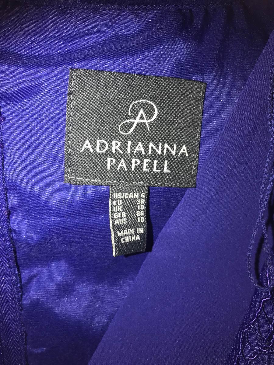 Vestido Coctel Adrianna Papell 6 Americano Encaje Azul Rey ...