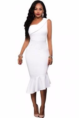 Vestido coctel blanco