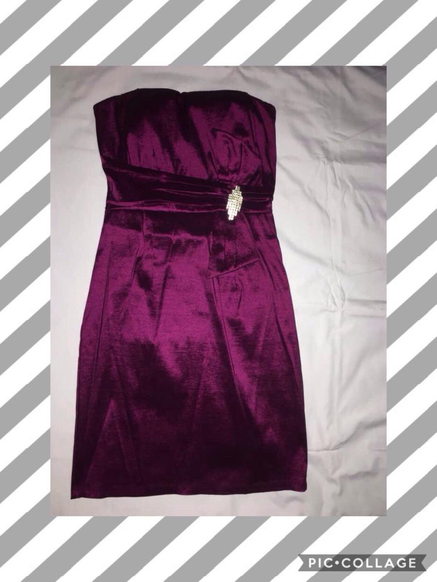 Vestido Cóctel Color Uva Satinado Talla M - Bs. 1.200.000,00 en ...
