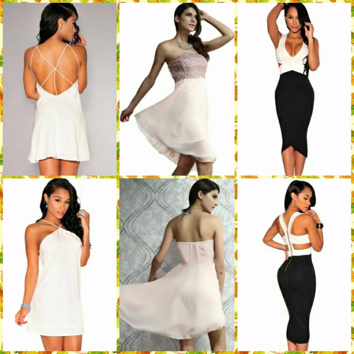 0d20f428f74 Vestido Coctel Elegante Sexy Mujer -   250.000 en Mercado Libre