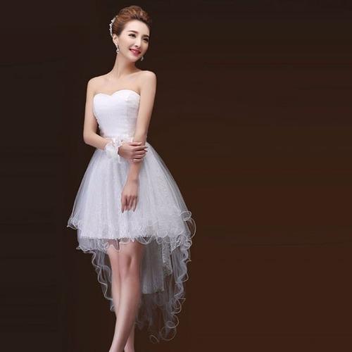 vestido cóctel escote corazón cola de pato ligero moda tres