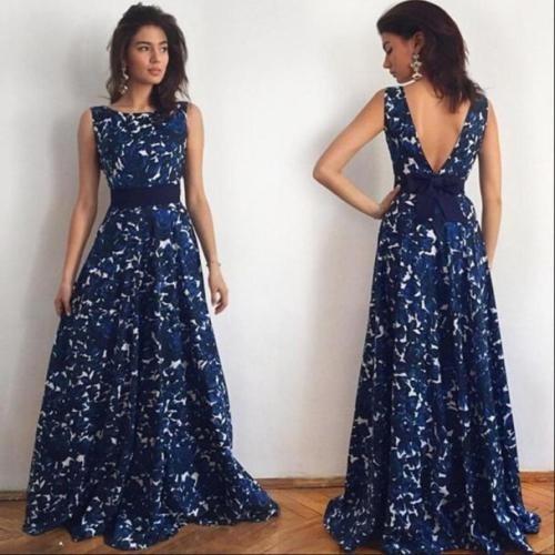 Vestido Coctel Noche Dia Fiesta Elegante Moda 2018 Azul