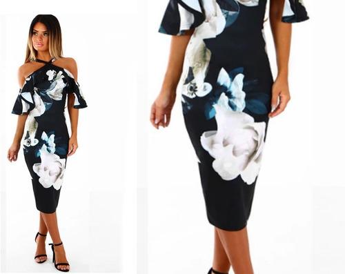 vestido cóctel - noche - fiesta 0101182  elbauldecorina
