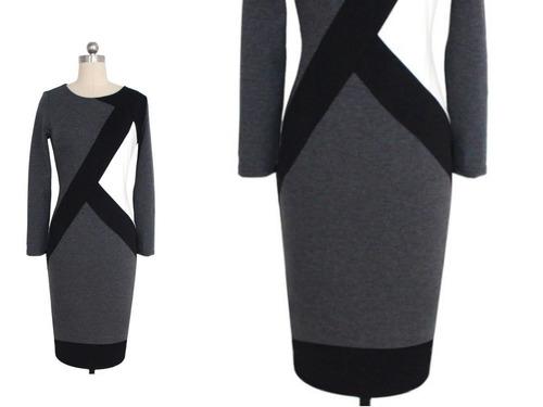 vestido cóctel - oficina - noche  (010106) elbauldecorina
