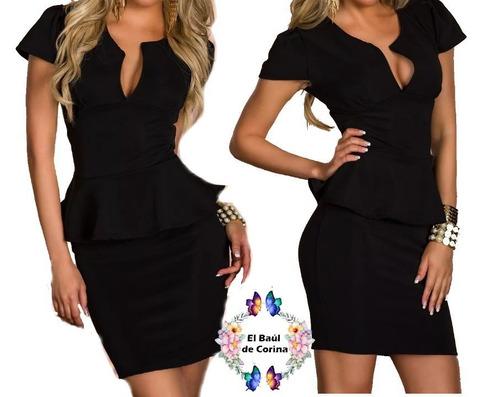 vestido cóctel - oficina - noche  (010135) elbauldecorina