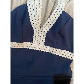 Vestido Colcci Azul Marinho Bandagem