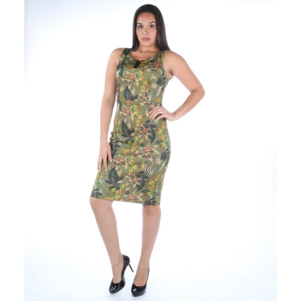 7fffb7f6d Vestido Colcci Curto Estampa Floral Com Detalhe No Decote - R$ 399,00 em  Mercado Livre