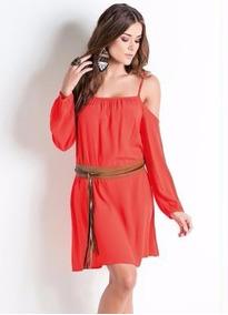 13fd4ffb8 Vestido Colcci Um Ombro Laranja - Vestidos no Mercado Livre Brasil
