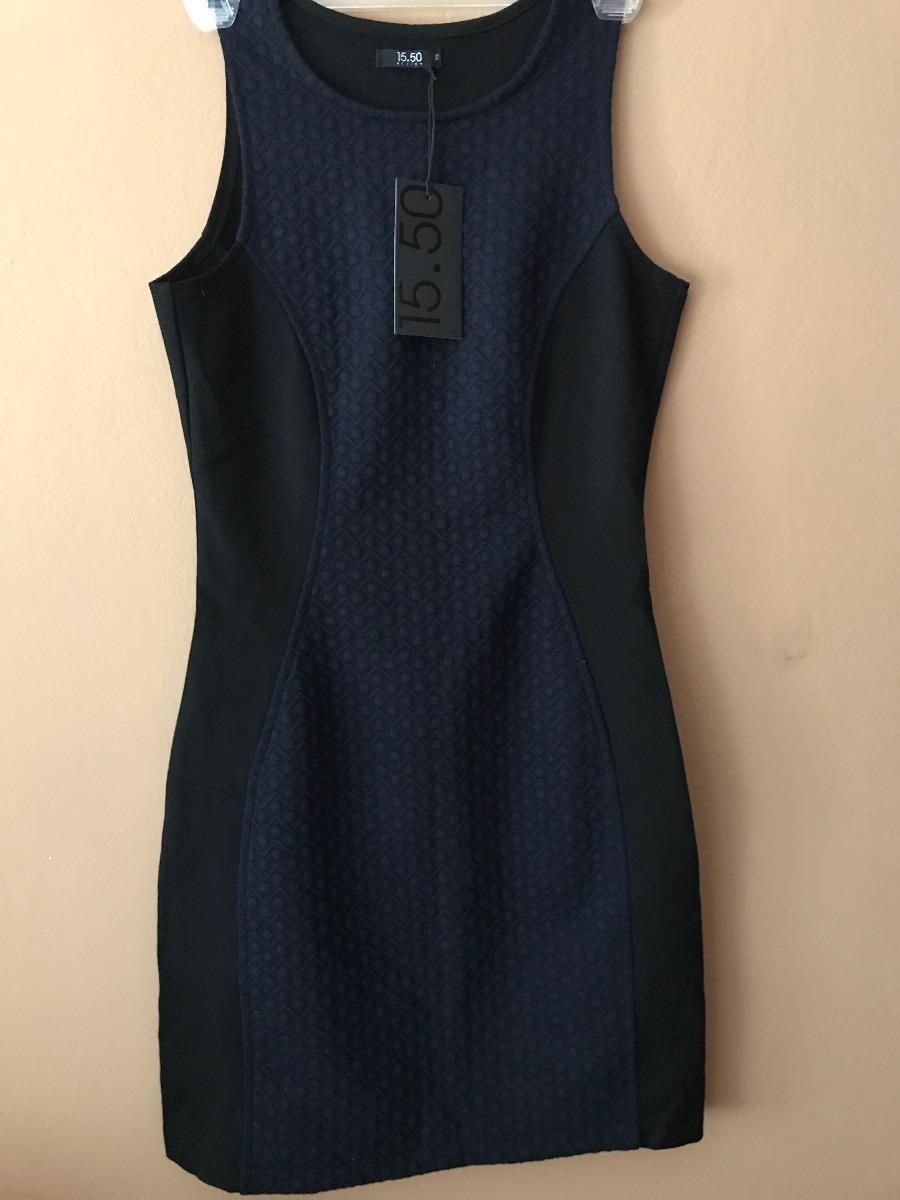 Vestido color azul negro
