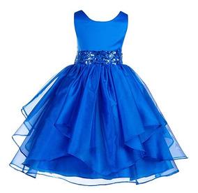 2c6a4cda5 Vestido Azul Rey Niña en Mercado Libre México