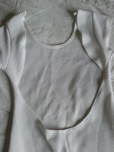 vestido color blanco con espalda descubierta talle m muy ele