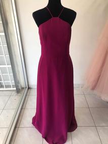 Vestido Color Bugambilia De Gasa Talla 10 Grande