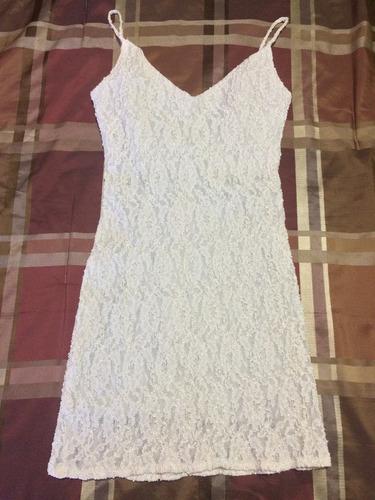 vestido color crema talla s