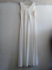 Vestido Color Cremita Talla 7 Marca Nina Ferré