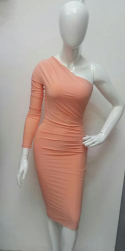 vestido color melon