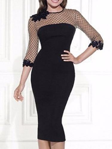 vestido color negro talla m