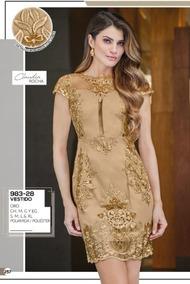 Vestido Color Dorado Largo Vestidos De Mujer Medio Dorado