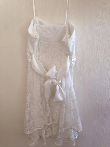 vestido color perla, ideal confirmación, talla 5, seminuevo