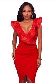 Corto En Outlet Rojo De Nuevo Noche Mujer Vestidos DIYEHW29e