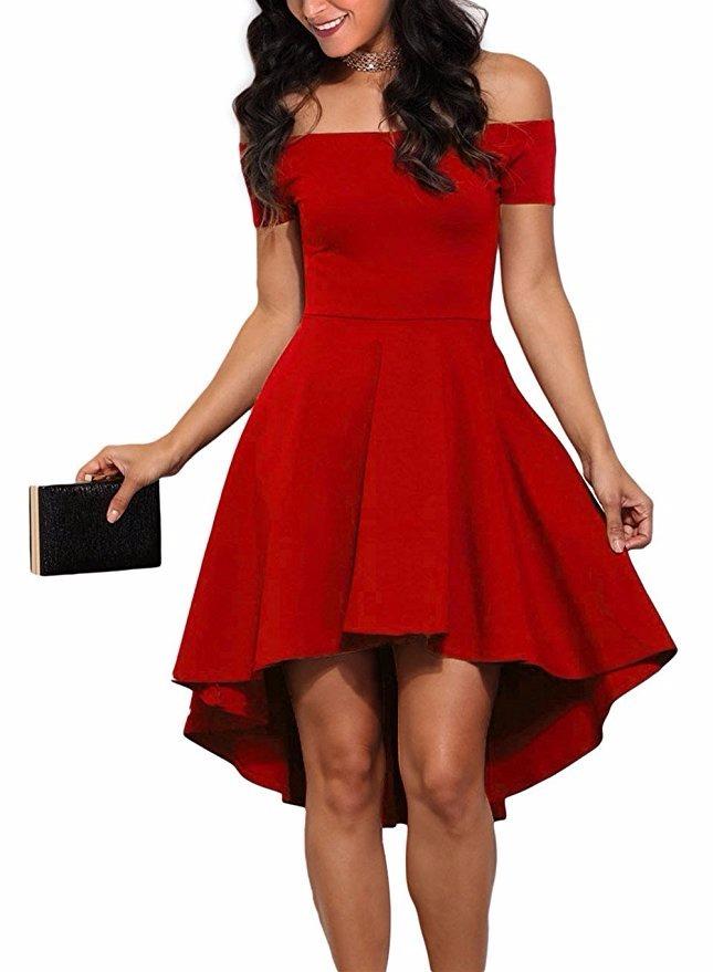 Vestido Color Rojo Varios Tamaños Sin Mangas