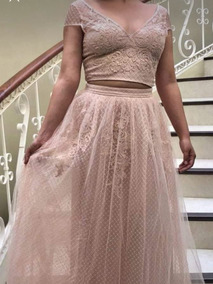 Vestido Coctel En Color Palo De Rosa Vestidos Largos Mujer