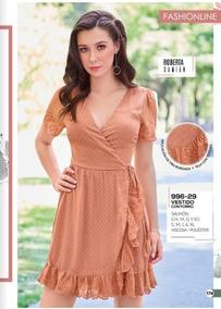 Vestido Color Salmon Con Tira Bordada 996 29 Cklass 2 19 C