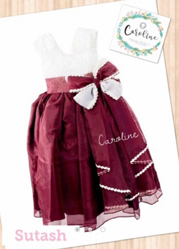 vestido color vino para fiestas o presentación