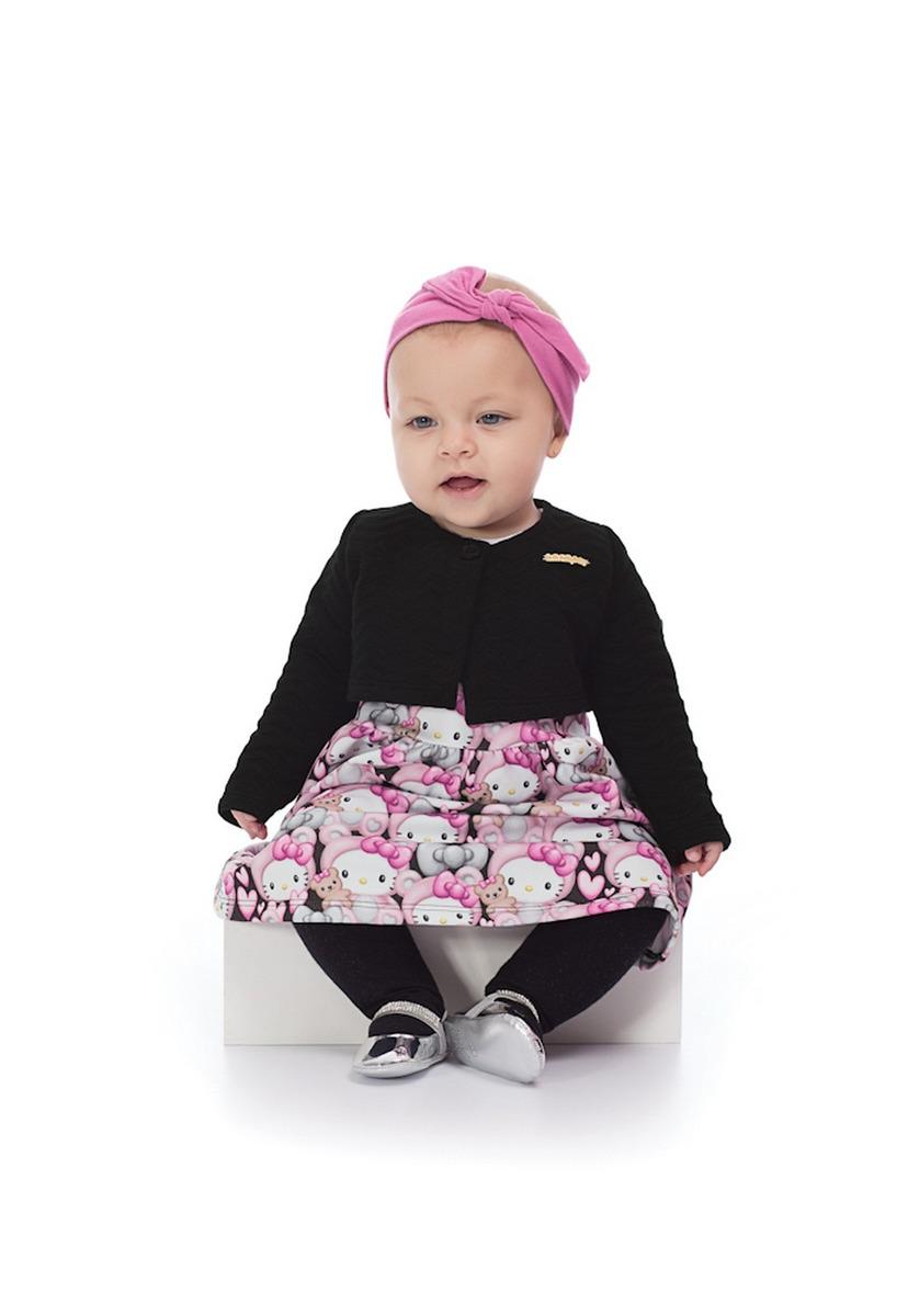 21708ab057 vestido com bolero bebê moletom hello kitty. Carregando zoom.