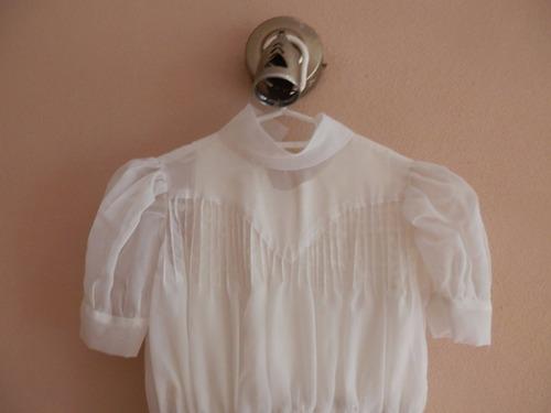 vestido comunión talle 10 voile forrado, impecable!