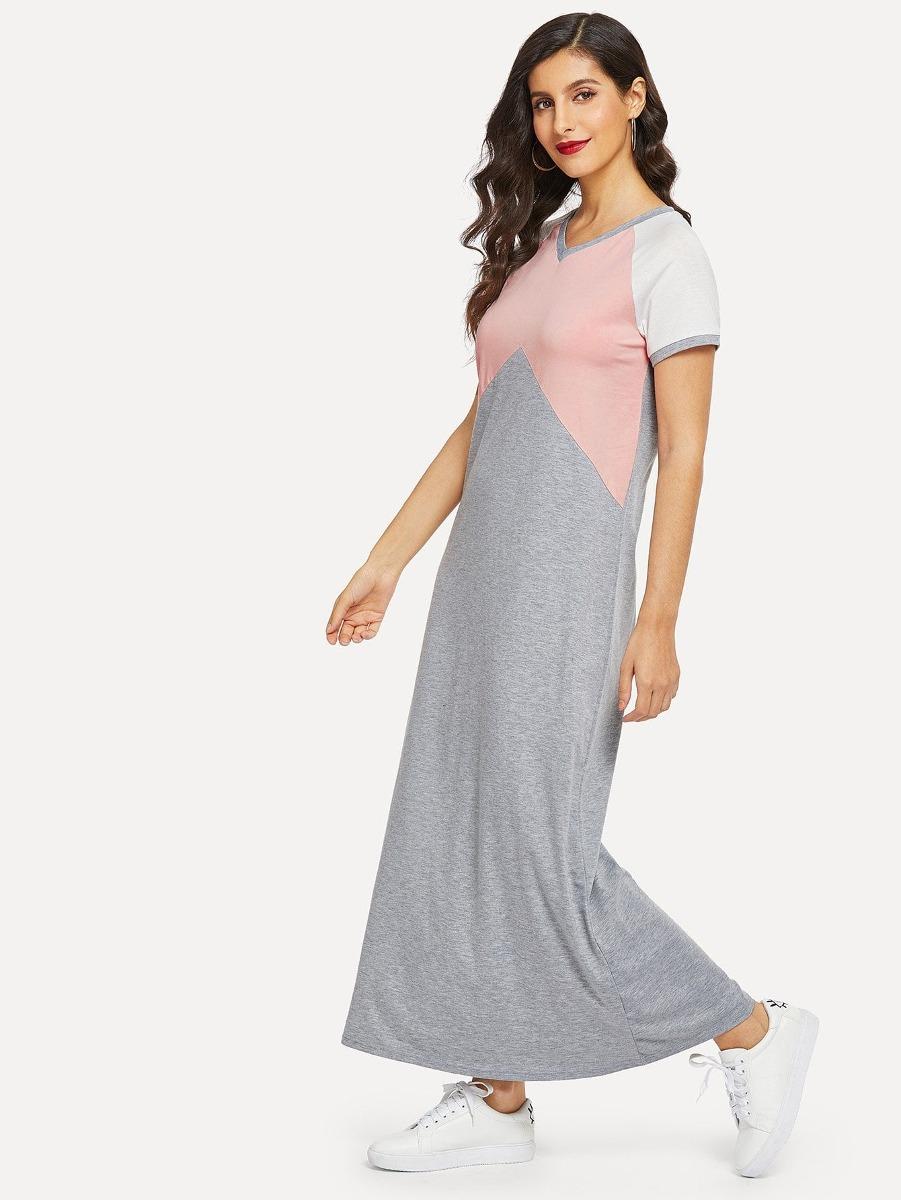 Vestido Con Costura De Manga Raglán - $ 616.60 en Mercado Libre