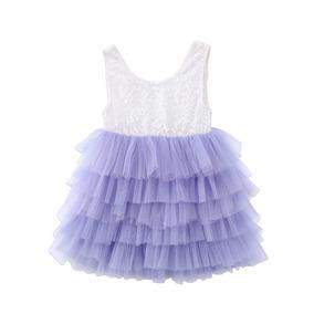 881db820c Vestido Con Encaje Y Falda De Tul Color Morada