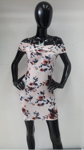 vestido con estampado de flores para dama