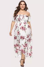 ea2b55d92 Vestido Con Estampado Floral Fruncido Tallas Extra M375