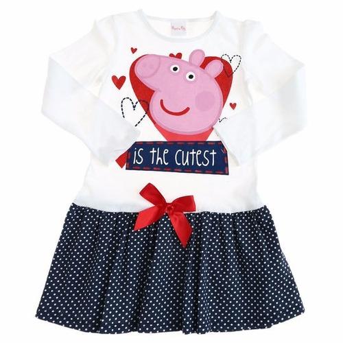 vestido con falda original peppa pig la cerdita 6 años