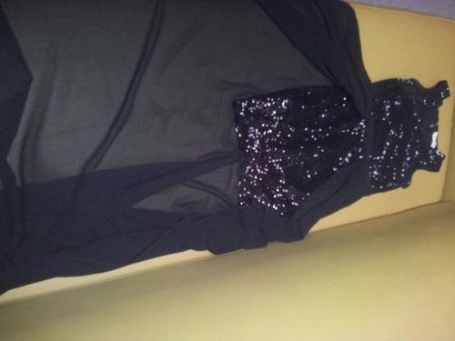 vestido con lentejuelas, corto , largo elegante.