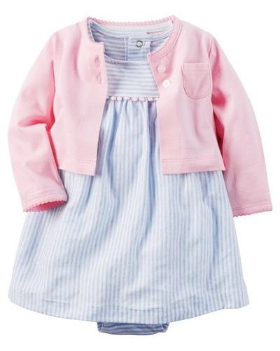 vestido con saco carter's bebe 18 meses