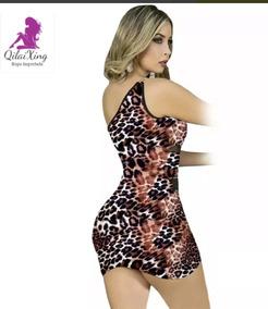 ec60bff5512c Vestido Con Transparencias Y Cadena Animal Print Qilaixing