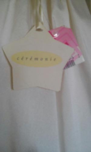 vestido confirmación niña primera comunión blanco hueso