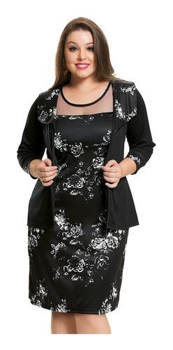 vestido conjunto evangélica plus size senhora 44 a 54