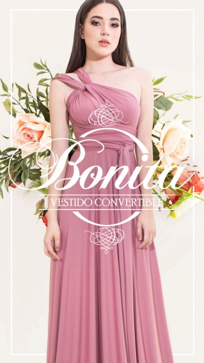 Vestido Convertible Bonita Multiformas De Fiesta Damas Novia ...
