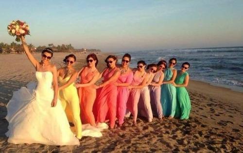 vestido convertible multiformas fiesta damas corto-largo
